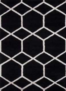 Addison and Banks AMZ_CT0278 Modern Geometric Pattern Wool/Silk Hand Tufted Rug, 2 by 3 Inch