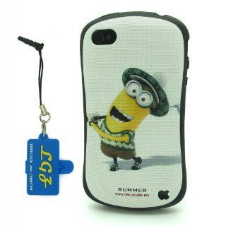 DD(TM) Style 1 Funny Cartoon Despicable Me 2 Yellow Henchmen Minions TPU Soft Case Cover Skin for Apple iPhone 5 5s 5G 5th Generation with 3 in 1 Anti dust Plug/LCD cleaning cloth/Cable tie Cell Phones & Accessories
