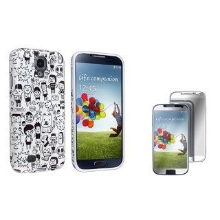 Everydaysource Compatible with Samsung� Galaxy S4/ S IV i9500 Cartoon TPU Rubber Case + Mirror Screen Protector Cell Phones & Accessories