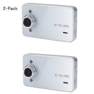 Chelong CL 606DV D 1080P Car DVR Recorder with 2.7LTPS LCD 140 Degree Wide Angle Lens (White) 2 Pack  Vehicle On Dash Video