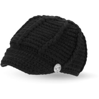Womens Rib Knit Cabbie Hat