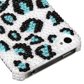 MYBAT IPHONE4HPCBKPRLDM604WP Premium Pearl Diamante Case for iPhone 4   1 Pack   Retail Packaging   Black/Blue Cell Phones & Accessories