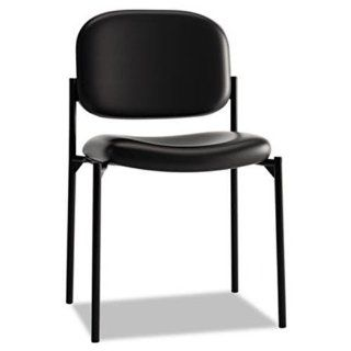 VL606 Series Armless Guest Chair Seat Finish Black   Leather  Reception Room Chairs
