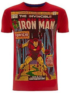 Fabric Flavours Iron man t shirt Red