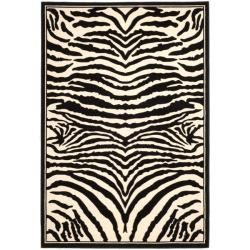 Lyndhurst Collection Zebra Black/ White Rug (8' x 11') Safavieh 7x9   10x14 Rugs