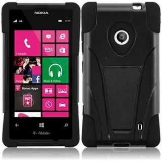 INSTEN For Nokia Lumia 521 T Stand Case Black /Black Accessories