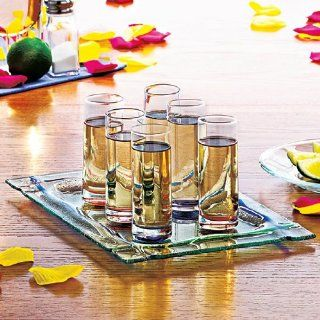 Magnetic Shot Glass Set with Tray No Spill Kitchen & Dining
