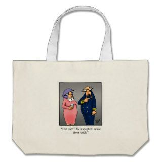 Funny Navy Military Cartoon Gift Canvas Bags