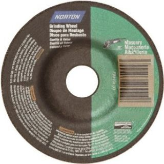 "Norton Masonry Depressed Center Abrasive Wheel, Type 27, Silicon Carbide, 7/8"" Arbor, 4 1/2"" Diameter x 1/4"" Thickness (Pack of 10) Abrasive Cutoff Wheels"
