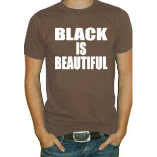 Black Is Beautiful T Shirt #620 (Mens Brown) (XXXX Large) Clothing