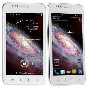 White STAR N9770   5.08 inch MTK6577 1.2GHz dual core CPU android 4.0.4 ICE CREAM SANDWICH 3G smartphone dual sim 8MP camera WIFI GPS, new google play store and flash player supported Cell Phones & Accessories
