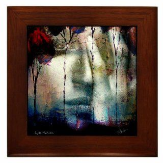 Spirit of Autumn Fire  Ethereal Haunting  Framed Ceramic Tile by Kristen Stein   Prints