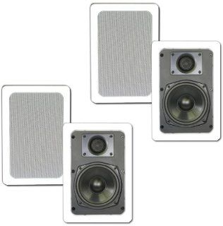 Theater Solutions In Wall Speakers Home Theater Surround Sound 640 Watts 2 Pair Pack 2CS5W Electronics