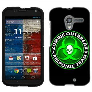 Motorola Moto X Zombie OutBreak Response Team Green on Black Phone Case Cover Cell Phones & Accessories