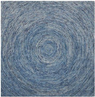Safavieh IKT633A Ikat Collection Wool Square Area Rug, 6 Feet, Dark Blue and Multicolor   Handmade Rugs