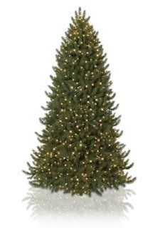 9' BH Vermont White Spruce Narrow Artificial Christmas Tree   Clear