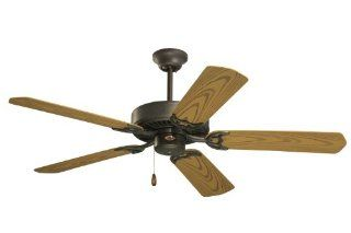 Emerson CF652WB Summer Night Indoor/Outdoor Ceiling Fan, 52 Inch Blade Span, Weathered Bronze Finish and All Weather Oak Blades   Close To Ceiling Light Fixtures