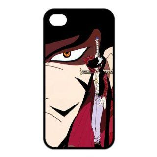 Fashiondiy Popular Japanese Anime One Piece Eagle Eye Mihawk Design Apple Iphone 4/4S Best Rubber Case Cover Cell Phones & Accessories