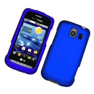 Blue Hard Plastic Rubberized Case Cover for LG VS660 Vortex Cell Phones & Accessories