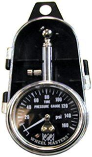 Wheel Masters 8216 Dual Tire Pressure Gauge with Quick Release Air Button   160 lb. Automotive