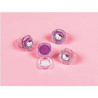 Hello Kitty Plastic Lip Gloss Rings (12 count) Toys & Games