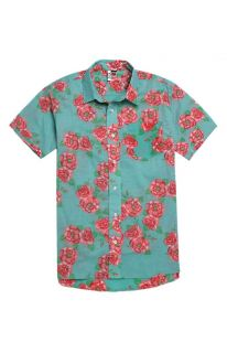 Mens Ambsn Shirts   Ambsn Posey Short Sleeve Woven Shirt
