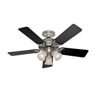 "Hunter HR21362 46"" Brushed Nickel Ceiling Fan with Light"