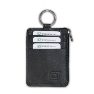 RFID Blocking Secure Wallet Mini with Key Ring Id Keychain