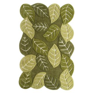 Direct Home Textiles Natures Beauty Leaf Green Elm Leaves Rug