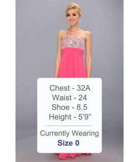 Faviana Strapless Sweetheart Gown w/ Bust Detail 7335