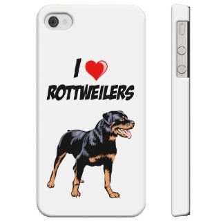 SudysAccessories I Love Heart ROTTWEILERS iPhone 4 Case iPhone 4S Case   SoftShell Full Plastic Direct Printed Graphic Case Cell Phones & Accessories