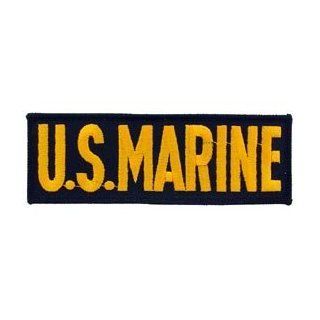 USMC Marine Corps Military Embroidered Iron On Patch   US Marine Gold & Black Name Tab Applique Clothing