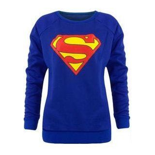Womens Long Sleeved Superman Sweater (Mtc) Fashion Sweatshirts