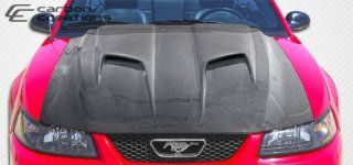 1999 2004 Ford Mustang Carbon Creations Mach 2 Hood   1 Piece Automotive