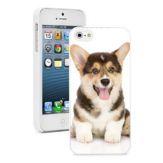 Apple iPhone 5 5S White 5W717 Hard Back Case Cover Color Corgi Puppy Dog Cell Phones & Accessories