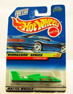 Hot Wheels   1997   Biohazard Series   Hydroplane   1 of 4   Collector #717   Neon Green   Limited Edition   Collectible Toys & Games