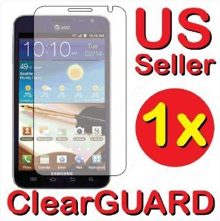Samsung GALAXY Note LTE SGH i717 Premium Invisible Clear LCD Screen Protector Cell Phones & Accessories