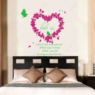 Custom PopDecals   Love is   Beautiful Tree Wall Decals for Kids Rooms Teen Girls Boys Wallpaper Murals Sticker Wall Stickers Nursery Decor Nursery Decals   Nursery Decor Products
