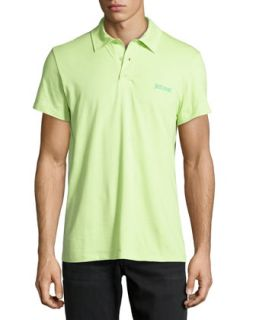 Stretch Jersey Polo Shirt, Acid Green