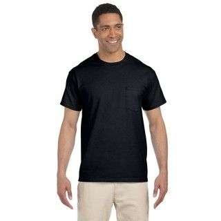 Gildan Mens Ultra Cotton Pocket Undershirts (pack Of 9)
