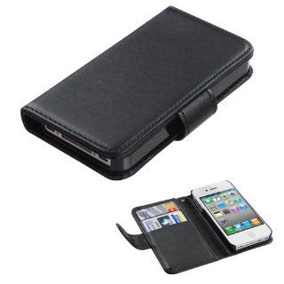 Fits Apple iPhone 4 4S Hard Plastic Snap on Cover Black Book Style MyJacket Wallet (with Black Tray) 724 AT&T, Verizon (does NOT fit Apple iPhone or iPhone 3G/3GS or iPhone 5) Cell Phones & Accessories