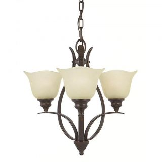 Morningside 3 light Grecian bronze Indoor Chandelier