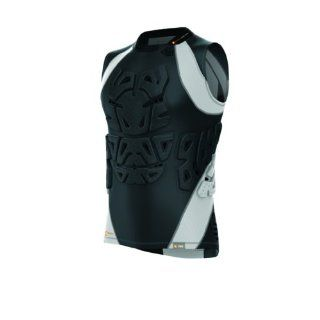 Shock Doctor 721 Velocity ShockSkin MMA 3 Pad Sleeveless Shirt Black/Grey Men's XS Sports & Outdoors
