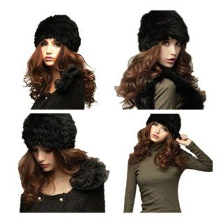 Zicac New Rabbit Fur Knitted Hat Cap Women Winter Nice Warm Fashion Hat Toys & Games
