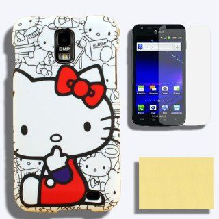 Case + Screen Protector for AT&T Samsung Galaxy S II Skyrocket SCH i727 Hello Kitty Snap on Cover Skin Hard Holster (NOT For AT&T Samsung Galaxy S II SCH i777) Cell Phones & Accessories