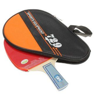 729 Table Tennis Racket Ping Pong Paddle Long Handle + Waterproof Case Bag Pouch  Sports & Outdoors