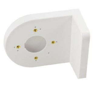 Plastic Right Angle White Bracket Wall Mount Security Shelf for Dome Camera Cell Phones & Accessories