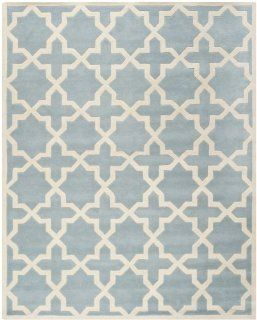 Safavieh CHT732B Chatham Collection Area Rug, 8 Feet by 10 Feet, Blue and Ivory