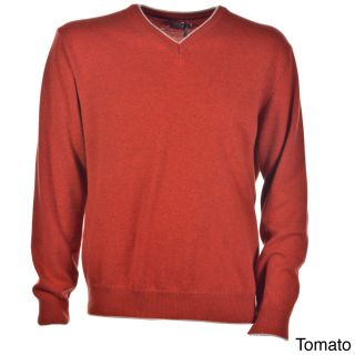 Luigi Baldo Luigi Baldo Italian Made Mens Cashmere V neck Sweater Orange Size M