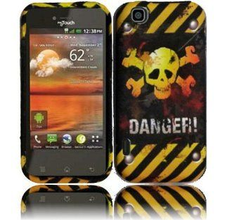 Danger TPU Candy Case Cover for T Mobile Mytouch E739 LG Maxx Touch Cell Phones & Accessories